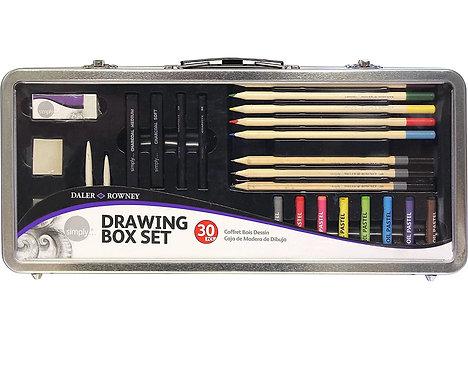 Drawing box set DALER ROWNEY 30 pezzi