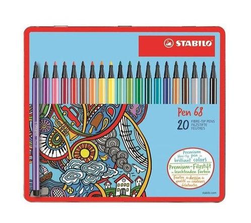 STABILO Pen 68 confezione da 20