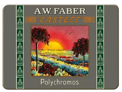 ED. SPECIALE Astuccio di metallo 12 matite colorate Polychromos FABER CASTELL