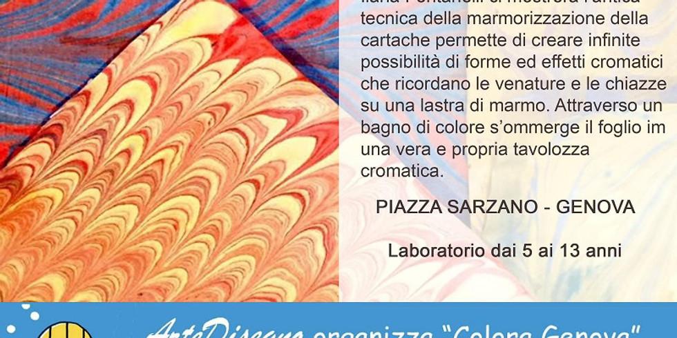 """Festival del disegno Fabriano """"Carta marmorizzata"""""""