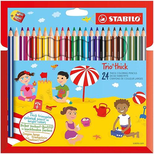 STABILO Trio maxi astuccio 24 colori