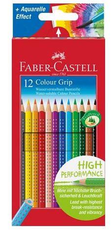 Set 12 matite colorate colour grip FABER CASTELL
