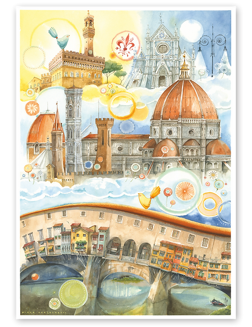 """Puzzle 50x70 """"Firenze"""" LineaGoccioline di Mirka Perseghetti"""