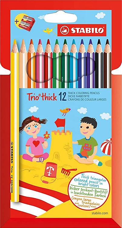 STABILO Trio maxi pastelli astuccio 12 colori