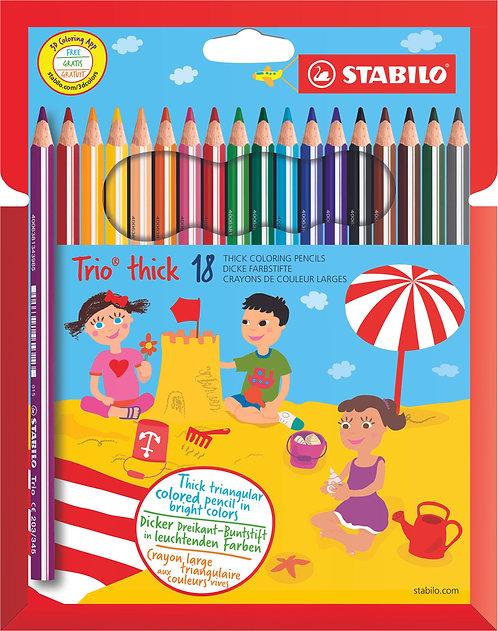 STABILO Trio maxi astuccio 18 colori