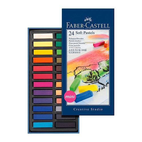 Soft pastels mini confezione da 24 FABER CASTELL