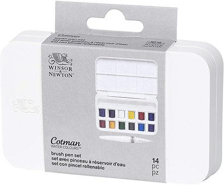 Set tascabile Cotman con brush pen WINSOR & NEWTON