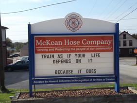 McKean Hose Company Sign