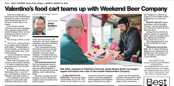 3-24-19 Daily Courier Valentinos article