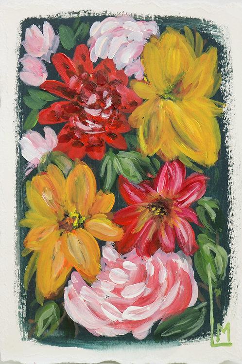 LE FLEUR in NOIR (Hand Embellished Print)