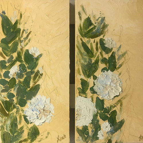 HONEY BLOSSOMS (diptych)