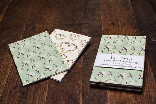 'Swallows' A6 Notebook set