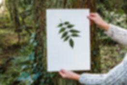 hand painted nature print