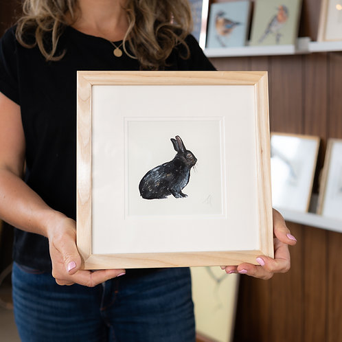 Original painting   Black Rabbit