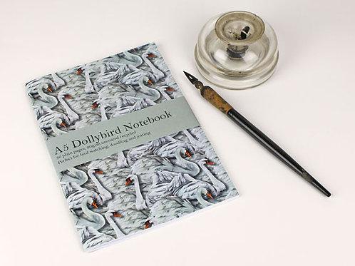 A5 Dollybird Swan notebook