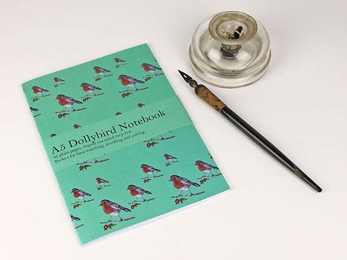 A5 Robin Dollybird notebook
