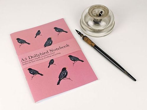A5 Blackbird Dollybird notebook