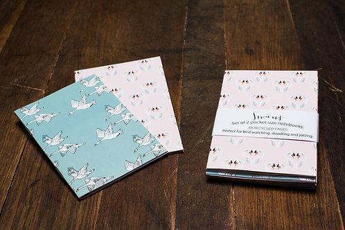 'Swans' A6 Notebook set