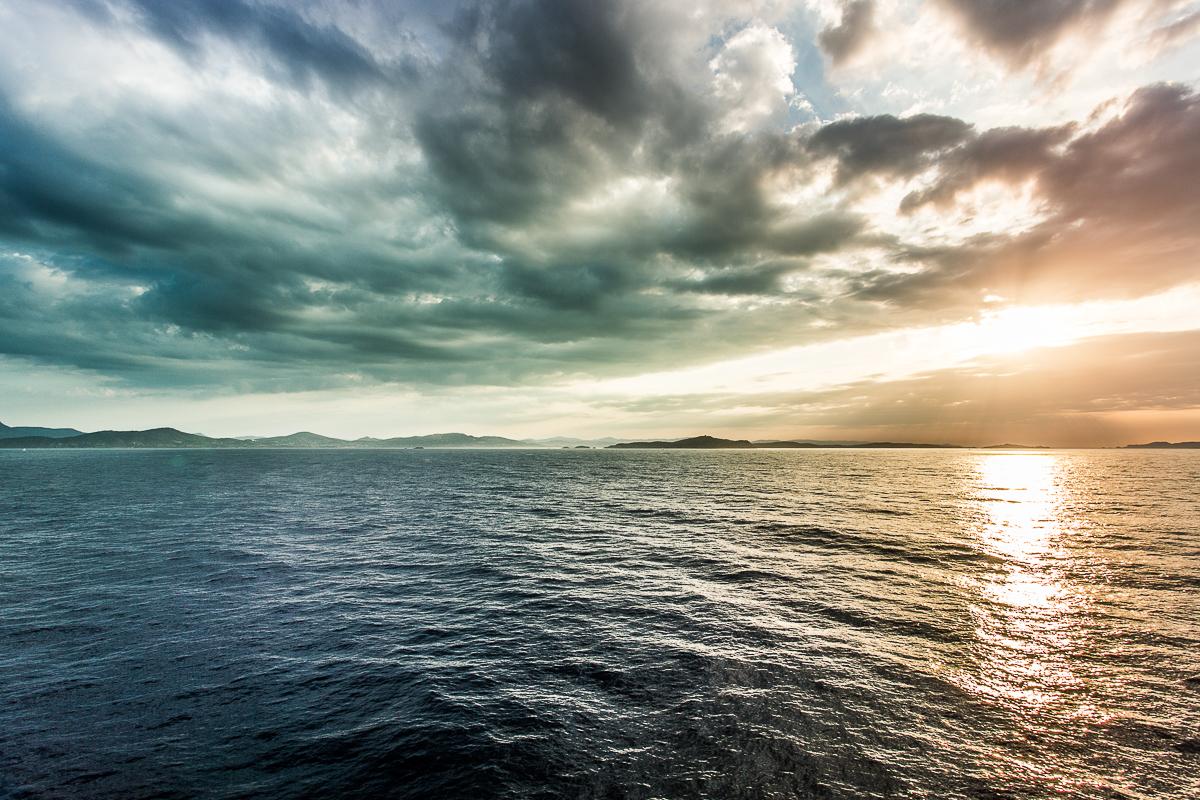 Lever de soleil sur les îles