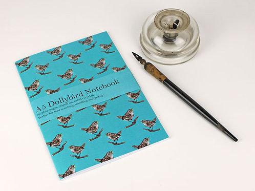 A5 Wren Dollybird notebook