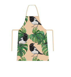 Monstera and Magpie Apron