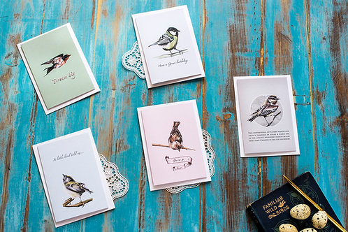 Garden birds card collection