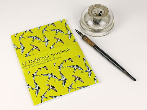 A5 Swallow Dollybird notebook