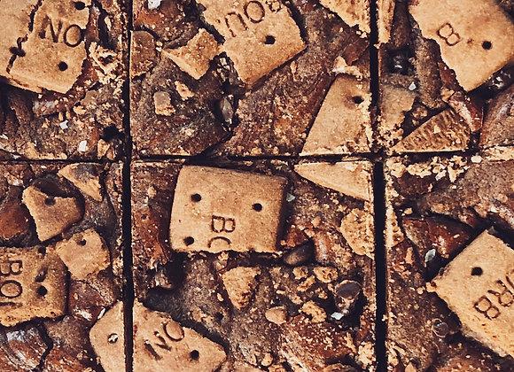 bourbon biscuit + coffee bean brownies