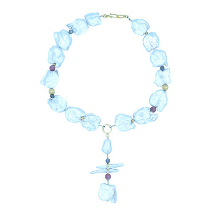 Moon Goddess Pearl Necklace