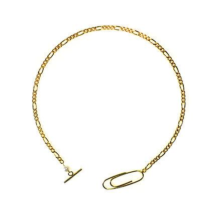 Paper clip chain necklace