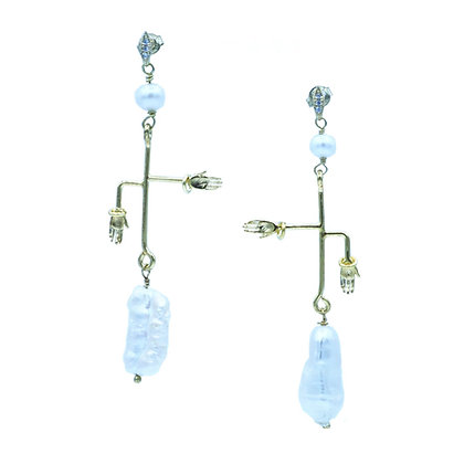 Kamaria's Hands Earring in 18K Gold Plated