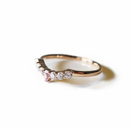 Pink gold ring, Stacking ring, thin ring