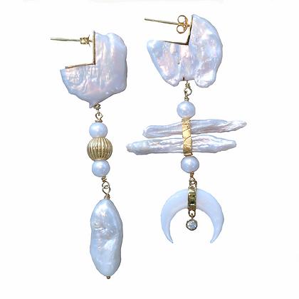 Golden Moonlight Earrings