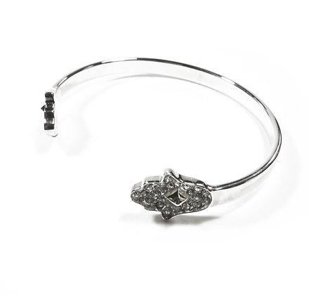 Hamsa cuff silver bracelet
