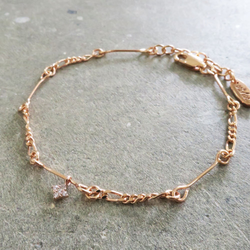 Pink gold Sister bracelet Middle M Jewelry Bangkok Sterling Silver