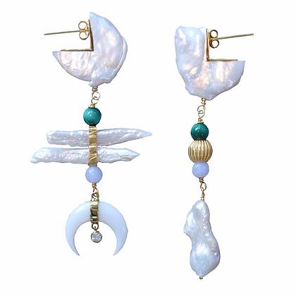 Golden Summer Moonlight Earrings