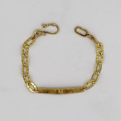 MM Golden Inscription Bracelet
