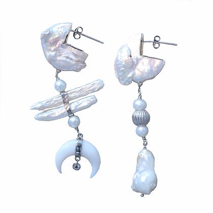 Silver Moonlight Earrings
