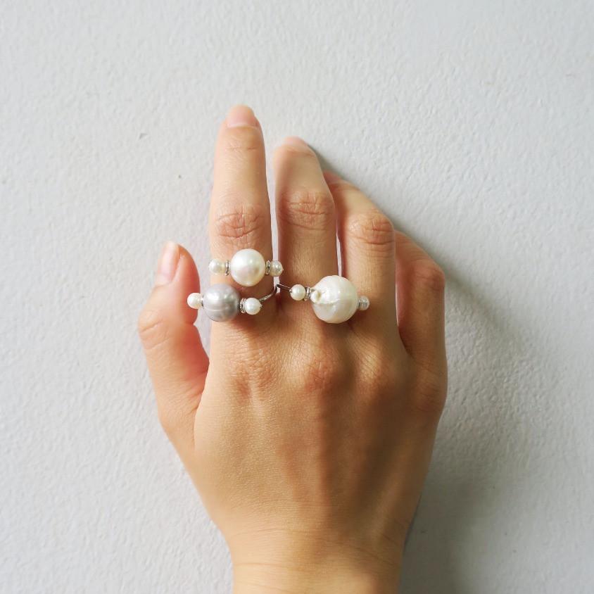 แหวนมุกบารอค ของขวัญปีใหม่