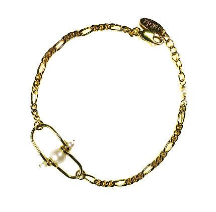 Freshwater pearl chain bracelet