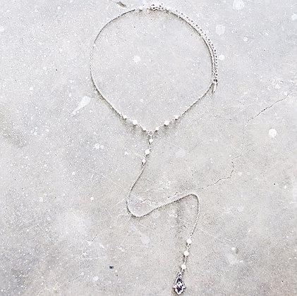Hamsa chain lariat choker necklace Middle M Jewelry Bangkok