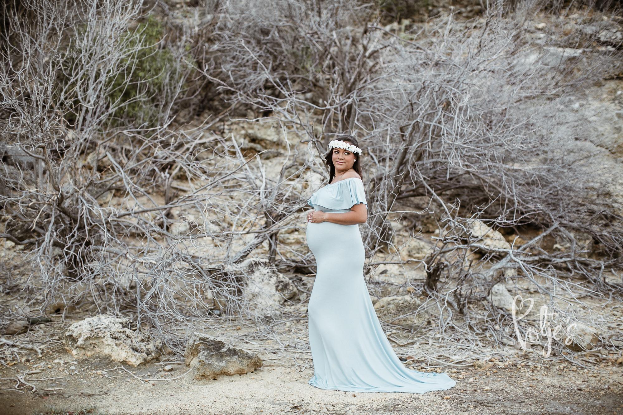 Blue Dress Maternity Aruba