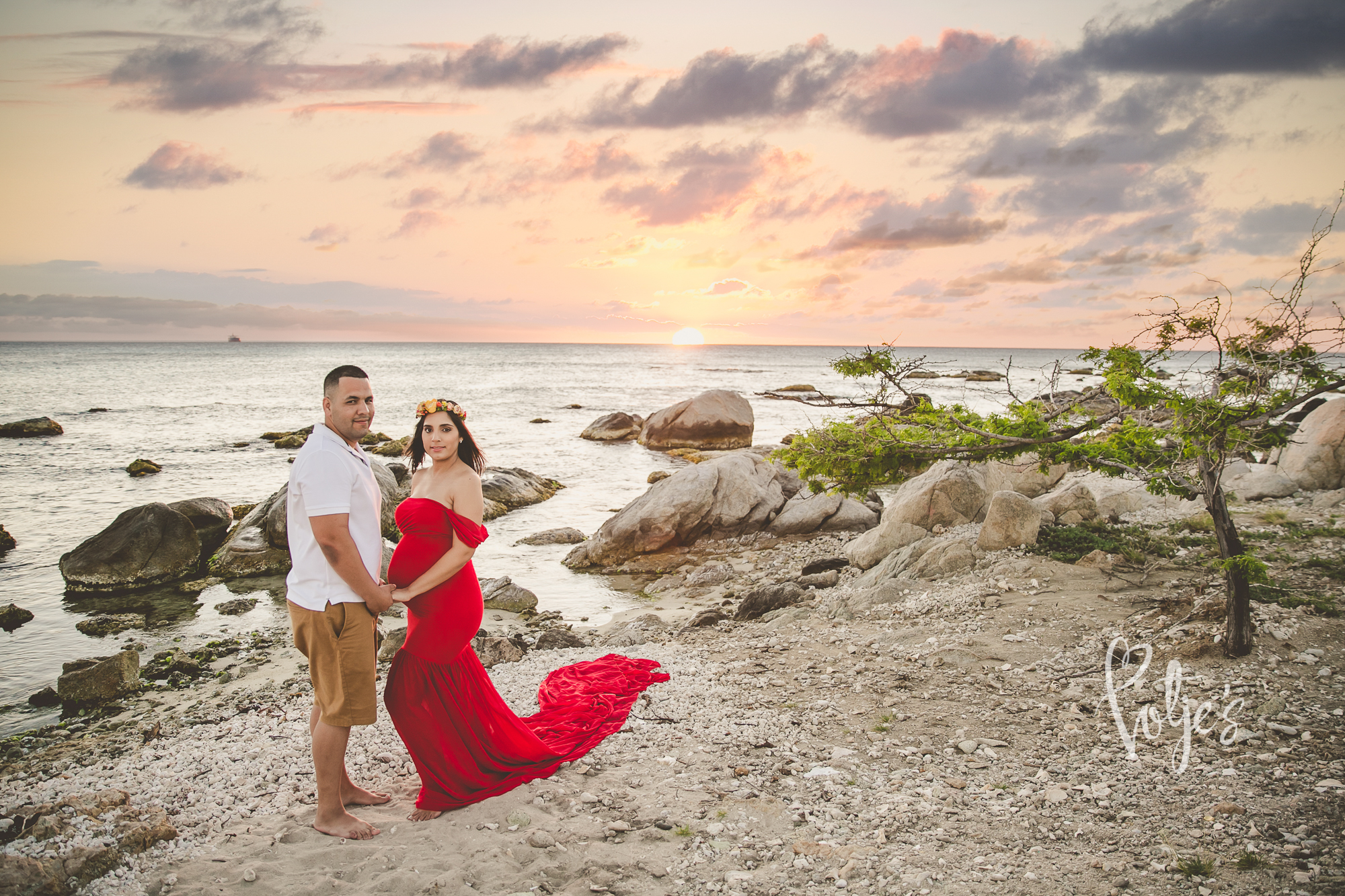 Maternity Session Red Dress