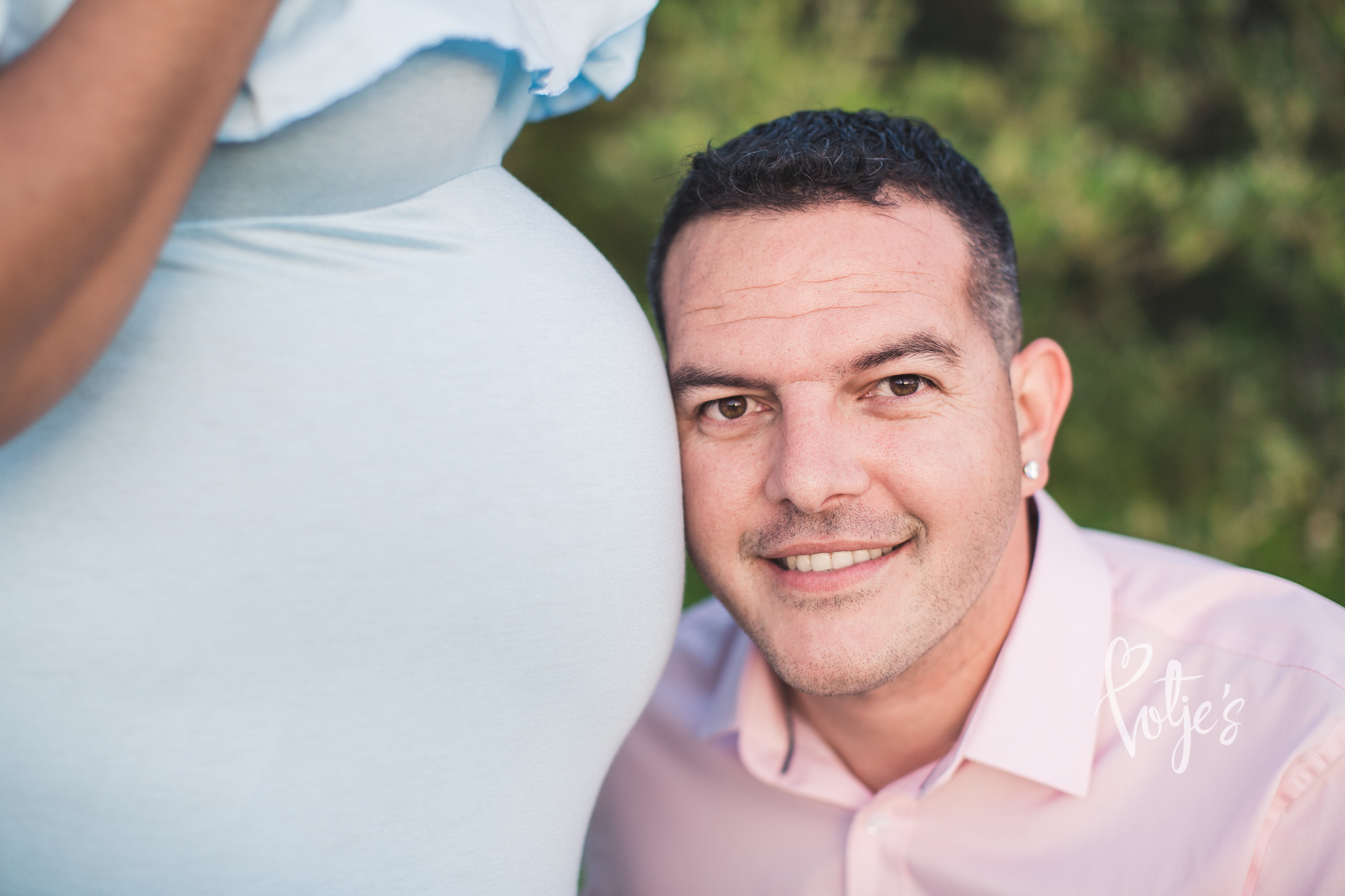 Father maternity shoot