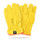 "Thumbnail: COWHIDE LEATHER GLOVE ""ARGONERO"" TYPE. SHIRRED ELASTIC BACK"