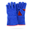 Thumbnail: BLUE GLOVE FOR WELDER WITH RED DETAILS