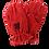Thumbnail: RED SPLIT COWHIDE GLOVE. PROCASI TYPE