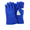 Thumbnail: BLUE GLOVE FOR WELDER WITH WHITE DETAILS