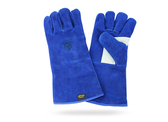 BLUE GLOVE WITH REINFORCEMENT IN THUMB