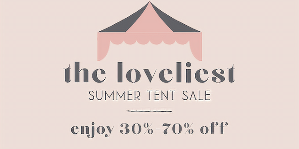 The. Tent. Sale. (!!!!!)
